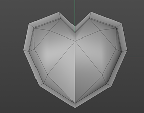 Low poly hearth 3D mould