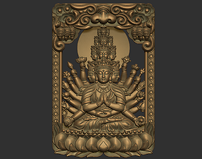 Kwanyin Bodhisattva with thousands of 3D print model