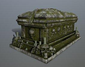 tomb 1 3D asset low-poly