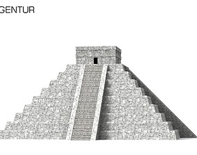 Pre Hispanic Mayan City of Chichen Itza 3D model