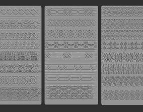 3D model 24 Tiling Viking Knot Patterns
