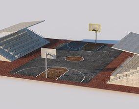 3D model Basketball Court Street