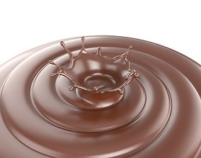 3D Chocolate Splash