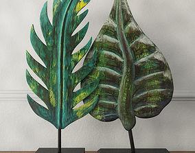 3D Albesia Wood Leaf Decoration 2