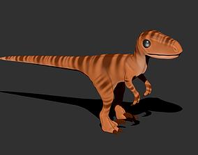 3D printable model Velociraptor Raptor Cartoon