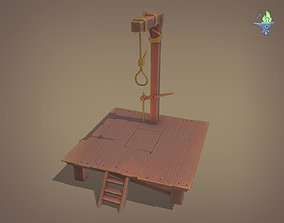 3D asset low-poly Gallows