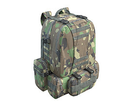 3D Military Backpack Green