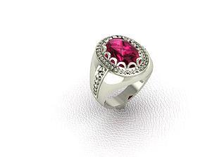 3D print model diamonds Ring