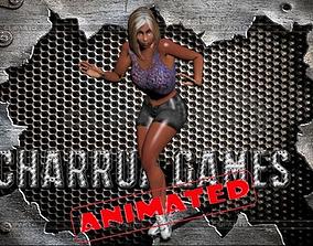 girl dance animated 3D model