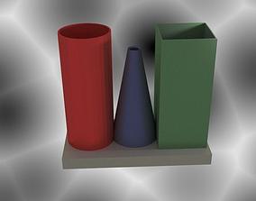 Cylinder Cone Vase 3D print model