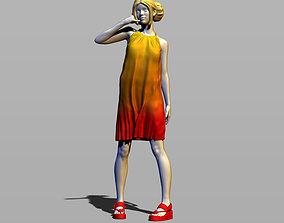 3D print model Girl in sundress