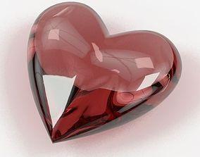 3D Heart Shaped Gemstones 002