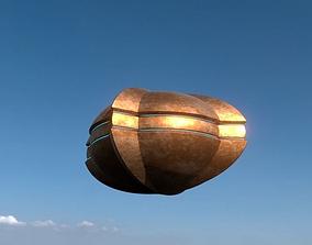 Gold UFO 3D model