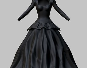 3D model VR / AR ready Victorian Gothic Dress