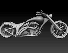 Chopper Motorcycle 3D printable model