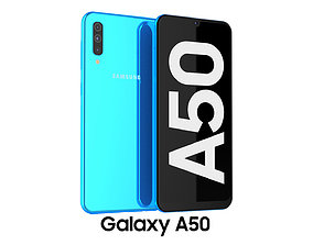 3D model Samsung Galaxy A50 Blue