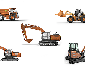 Hitachi Construction Machinery Collection - All Models 3D