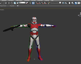 Red Stormtrooper Rigged 3D model