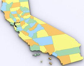 Map of California 3D