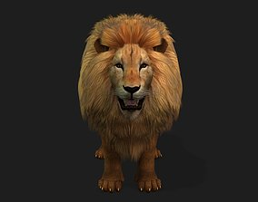 3D Lion Realistic Character with motion