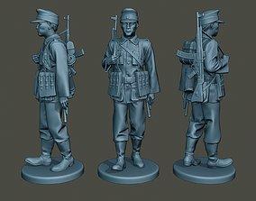 German soldier ww2 walk G3 military 3D print model
