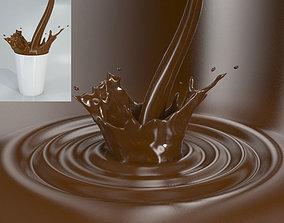 soap Liquid Splash - Wave Ripple and Glass 3D model