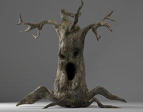 VR / AR ready evil tree halloween 3d model monster