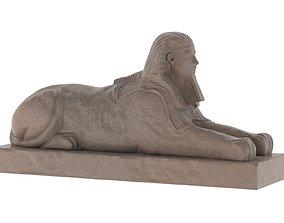 3D asset Sphinx of Hatshepsut Statue