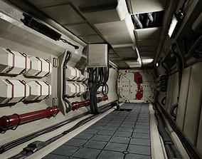 3D model Scifi Corridor Modular