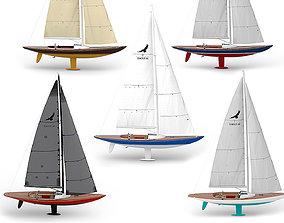 Leonardo Eagle 44 yachts with 5 colors 3D
