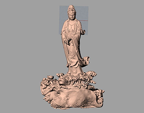 Chinese Sculpture Model Guanyin bodhisattva Kwan-yin 093