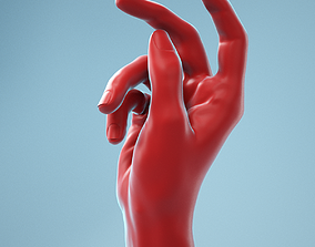 3D Relaxed Grip Realistic Hand Model 10