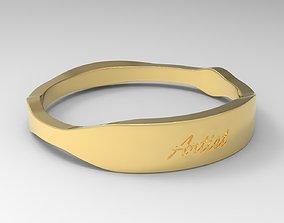 Artist Female Ring Gold 3D print model