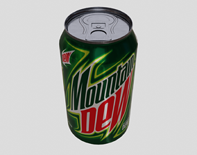 Mountain Dew Can 3D model