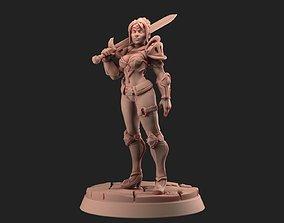 3D printable model Female Warrior 30 mm