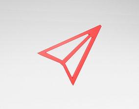 IOS Send Symbol v1 006 3D model
