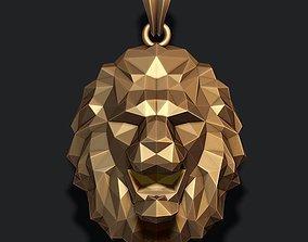 3D printable model Lion pendant low poly