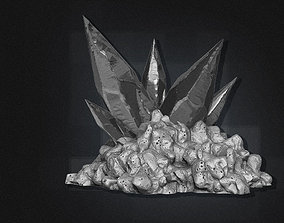 3D Cave Crystals - High Poly