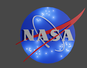 logo 3d Logo of NASA