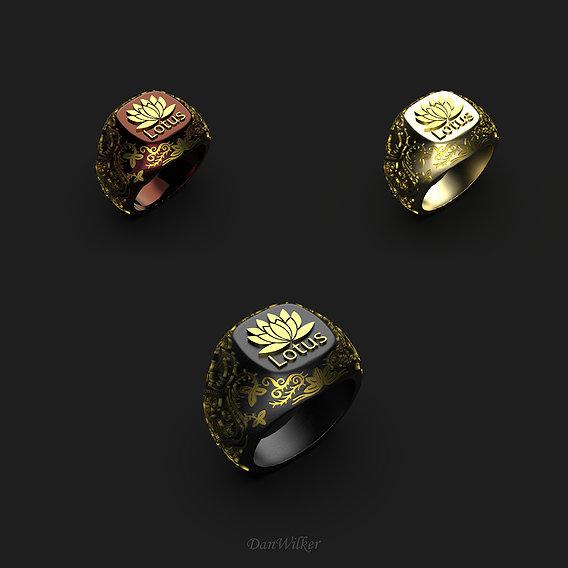 Luxury Lotus Ring
