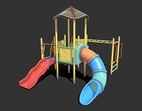 3D model Abandoned Playground