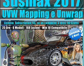 3ds max 2017 UVW Mapping e Unwrap 3 mesi tutorial