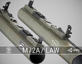3D asset PBR M72A7 LAW