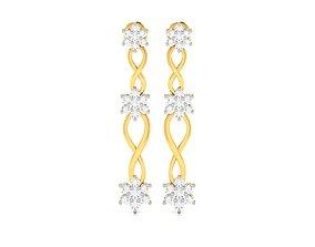 Women earrings 3dm render detail drops jewel