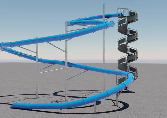 Water Slide 3D model