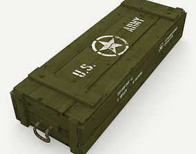 US army wooden crate 3D asset