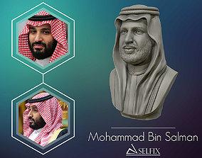 Mohammad Bin Salman portrait sculpture model