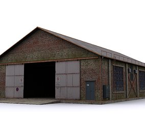 Hangar hotel 3D asset realtime