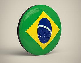 3D model Brazil Badge