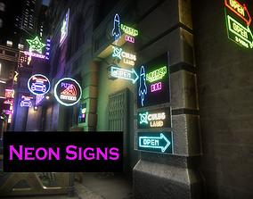 Neon Signs 3D asset